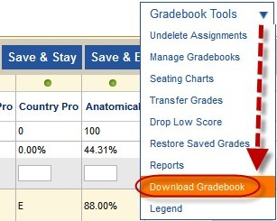 download gradebook