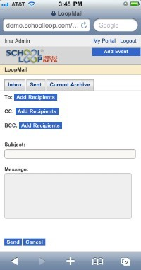LoopMail Composition Page